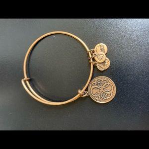Alex +Ani gold infinity bracelet